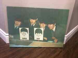The Beatles - 2 stretched canvas prints and Abbey Road sign Cambridge Kitchener Area image 2