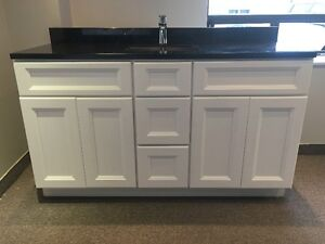 """60"""" Solid Wood Vanities From $1249, 72"""" From $1549"""