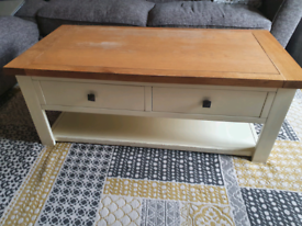 Solid oak real wood coffee table Dunelm