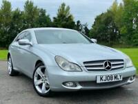 2008 MERCEDES CLS 320 3.0 CDI 7G-TRONIC SILVER 4 DOOR SALOON AUTOMATIC DIESEL