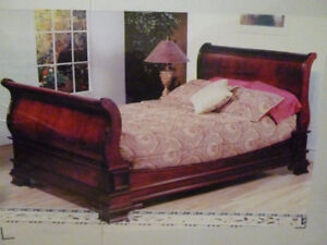 Sleigh Bed - Queen Size - NEW