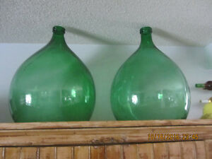 PAIR OF LARGE DEMI JOHN WINE JUGS