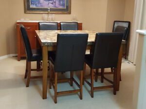 Pub Height Dining Table Chairs