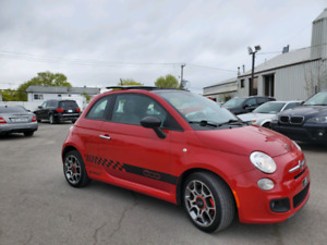 Fiat 500 2012  Manuelle  Toit Cuir Air Climatise Finance 5995$