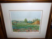 """M.J.K.D. """"Untitled"""" Vintage Original Watercolor"""