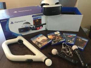VR for PlayStation plus games and Aim controllers.
