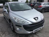 Peugeot 308 1.6HDi 2010 ( 90bhp ) S , IN SILVER ,
