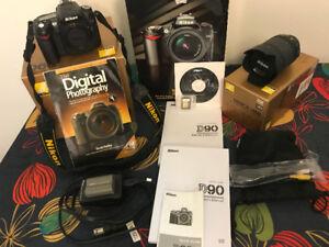 Nikon D90 + Lens 18-105mm + Accessories ***LOW SHUTTER COUNT***