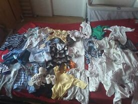 Newborn and tiny baby boys bundle some brand new rest worn for 3-4 week