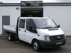 FORD TRANSIT 350 LWB EXTENDED FRAME DROP SIDE FLAT BED PICKUP CREW CAB VAN