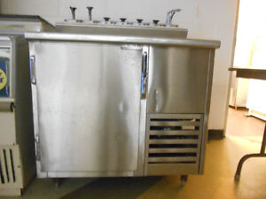 Commercial Cooler with Topping Dispensers
