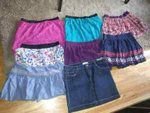 Assortment of skirts