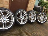 """Genuine BMW 1 3 Series 18"""" 261 M Sport Alloy Wheels & Tyres E81 E82 E87 E88"""