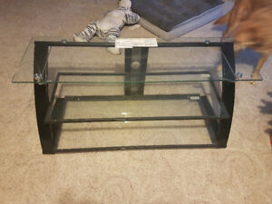 Glass shelf TV stand. Excellent quality and condition.