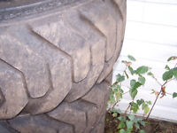 Decent used set of 4 12x16.5 Skidsteer Tires
