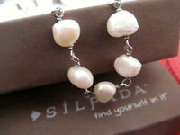 """SILPADA Freshwater Pearl/Sterling 32"""" Necklace 'Fresh Catch'"""