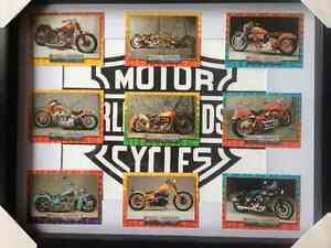 "Awesome 11"" x 14"" Framed Custom Motorcycle collector Cards.  Som"