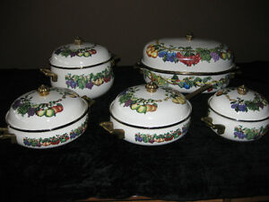 10 PC EUROPEAN SET OF POTS & PANS (NEW NEVER USED)(PAID $800+)