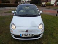 Fiat 500 1.2 LOUNGE [1 LADY OWNER+NEW MOT+FSH+GLASS ROOF+PHONE+WARRANTY]
