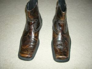 "Spring Brown ""Distressed"" Leather Boots - Size 11US/44EU Kitchener / Waterloo Kitchener Area image 2"