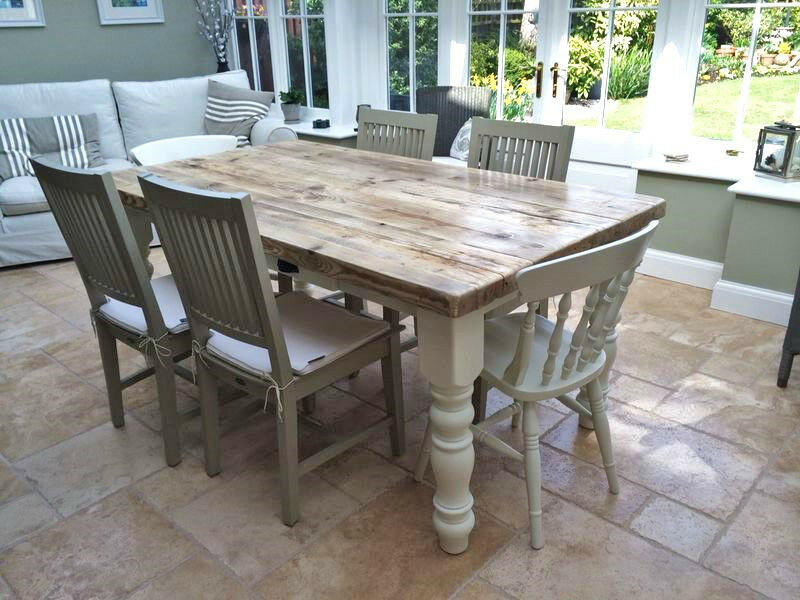 Farmhouse Dining Table Set Bench Images