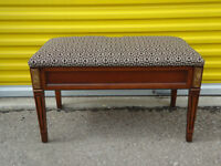 Bench: elegant, top quality, storage, new fabric (delivery)