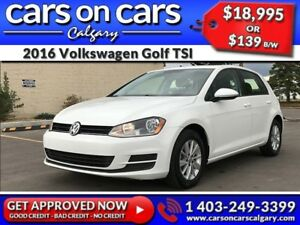 2016 Volkswagen Golf TSI w/Heated Seats, BackUp Cam, BlueTooth $