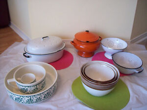 ENAMEL COOKWARE, BOWL SETS-Some   1/2 Price ** SEE EACH PRICE **