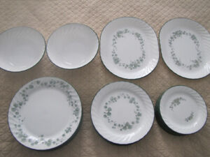51 pcs. CORELLE DISHES PLATES PLATTERS/TRAYS SERVING BOWLS