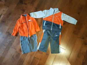 2 Nike track suits size 6 to 9 months