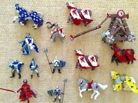Toy Knights, horses & canon -castle play set