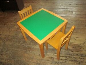 CHILDS LEGO TABLE W/ 2 CHAIRS