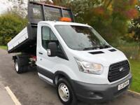 2015 65 FORD TRANSIT SINGLE CAB TIPPER ALLOY BODY ONE OWNER