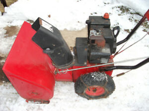 "5hp 24"" Mastercraft snowblower"