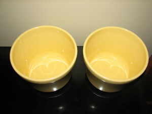 Yellow Ceramic Pottery Flower Planters, Made in Germany, NEW, 2 Kitchener / Waterloo Kitchener Area image 2