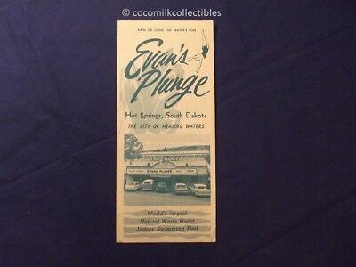 1960's Travel Brochure Evans Plunge Hot Springs SD South Dakota VW Bus Pool Ford