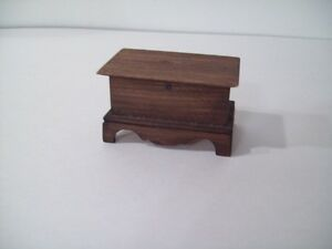DOLL HOUSE BLANKET BOX SOLID WOOD