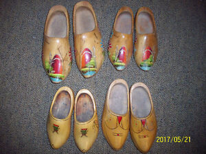 4 pairs of wooden shoes from Holland