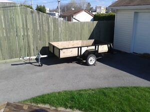 Utility trailer 49 inch x 99 in x 16 inch high with 2 inch hitch