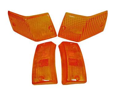 Vespa PX 125 150 P200 LML Stella Star Front Rear Indicators Amber Lens Set of 4