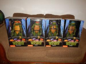 "Serie Complete Ninja Turtles Figurine 17"" Nickelodeon NECA"