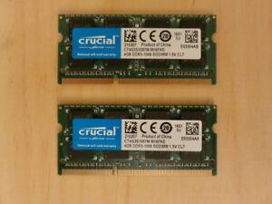 Kit RAM 8 GB (2 X 4 GB) mac compatible