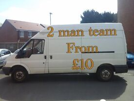 Man and van plus rubbish uplift from £10 2 man team pressure washing jet wash