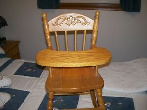 Solid Oak Doll High Chair Kitchener / Waterloo Kitchener Area image 2