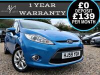 2009 59 FORD FIESTA 1.4 AUTOMATIC ZETEC MODEL ☆ FSH ☆ VERY LOW MILES ☆ AUTO!
