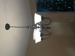 5 light, dimmable chandelier