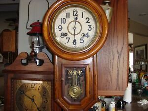 VINTAGE EARLY 1900'S JAPANESE WALL CLOCK