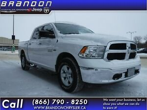 2013 Ram 1500 SLT-Cloth Seats, SIrius,2nd Floor Storage Bins,Rem