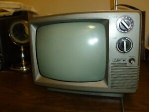 Vintage Pulsar 12 inch Black and White Television