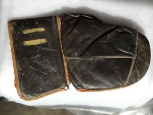 GANT de GARDIEN  de BUT HOCKEY SPALDING Antique